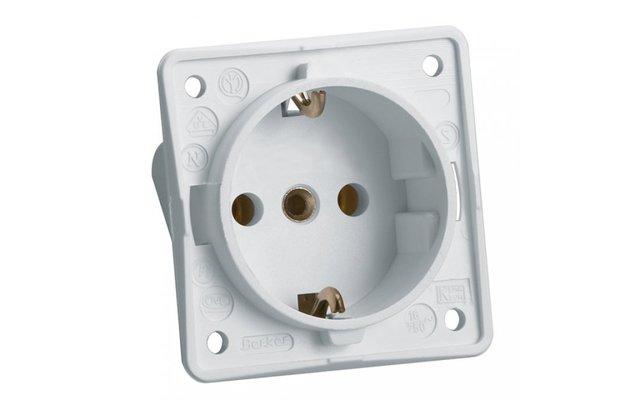 Schutzkontakt-Einbausteckdose  weiß