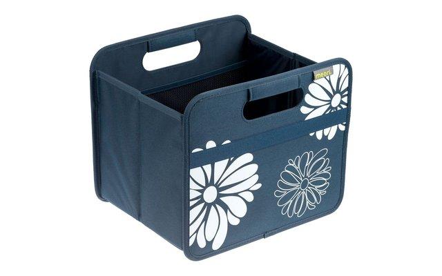 meori Faltbox Classic Marine Blau mit Blumen Small 15 Liter