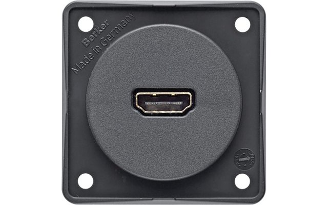 HDMI Steckdose anthrazit