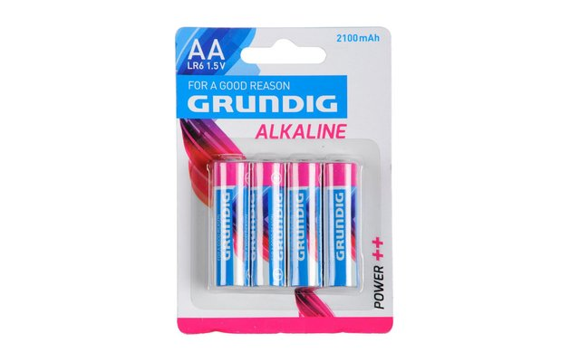 Grundig Alkaline Batterie Mignon AA 1,5 V / 2100 mAh