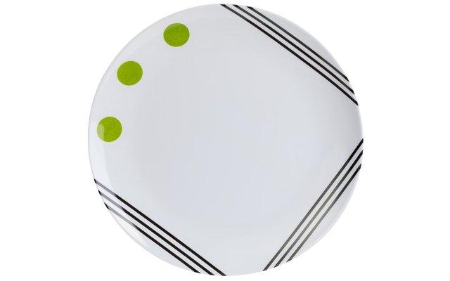 Berger Dots Melamin Essteller Grün