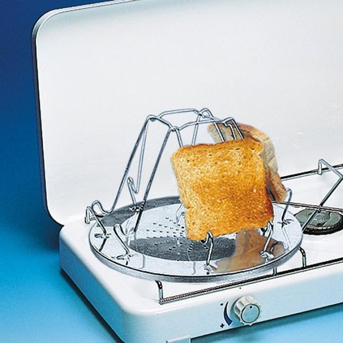 Sport Camping 4 Scheibe Falten Camping Toaster für Gas Herd Neu