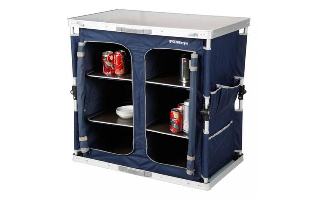 Camptime Indus Küchenbox 2 Fächer Küchenschrank blau Aufbauschrank Faltbox