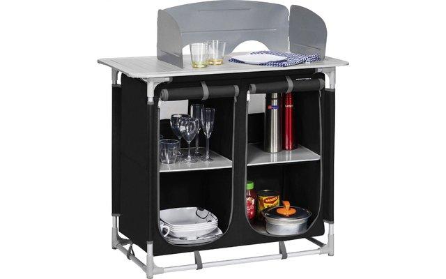 Berger Küchenbox 4 Fächer schwarz