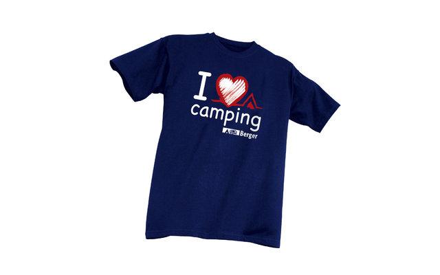 Berger Kinder-T-Shirt I love Camping