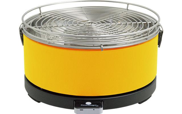 Feuerdesign Mayon Holzkohle-Tischgrill gelb inklusive Zubehör