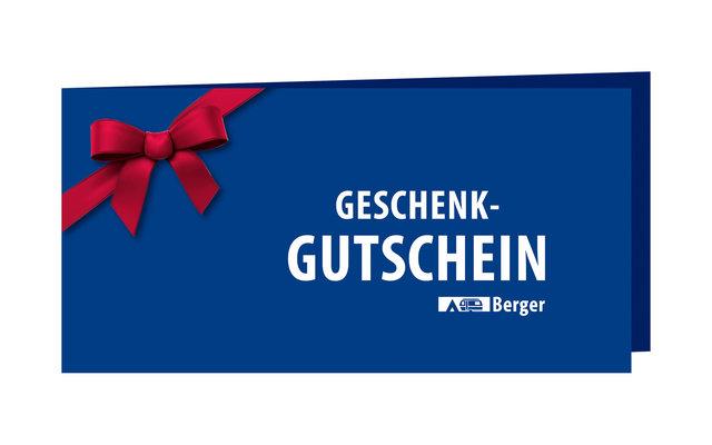 70,- Euro Berger Geschenkgutschein