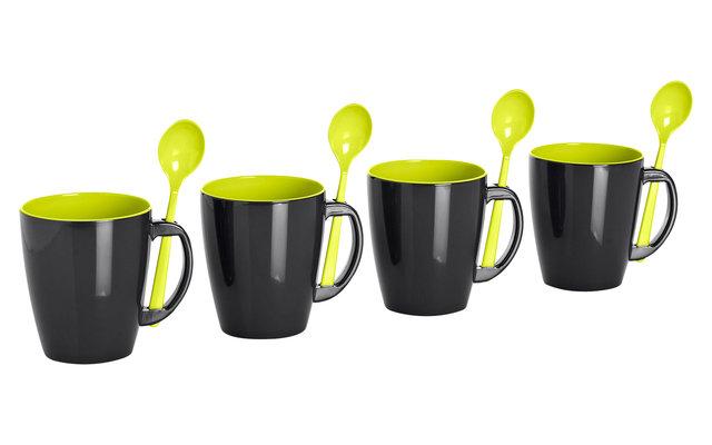 Gimex Henkelbecher Lime 300 ml 4er Set
