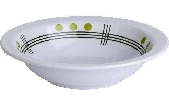 Berger Dots Melamin Suppenteller Grün