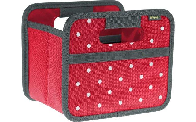 Meori Faltbox Mini Hibiskus Rot mit Punkten 1,8 Liter