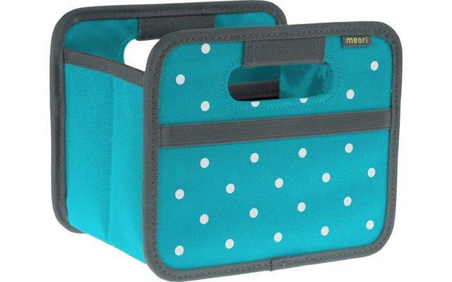 Meori Faltbox Mini Azur Blau mit Punkten 1,8 Liter