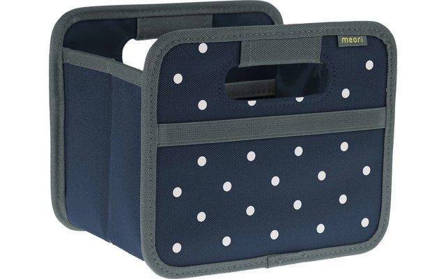 Meori Faltbox Mini Marine Blau mit Punkten 1,8 Liter