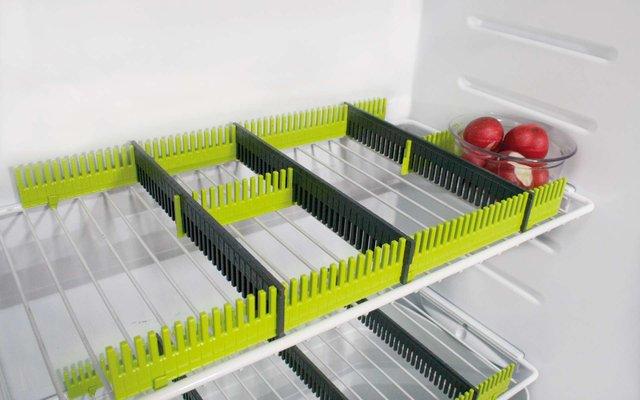 Purvario by Dörr Stauleisten für Kühlschränke 8er Set anthrazit / lime