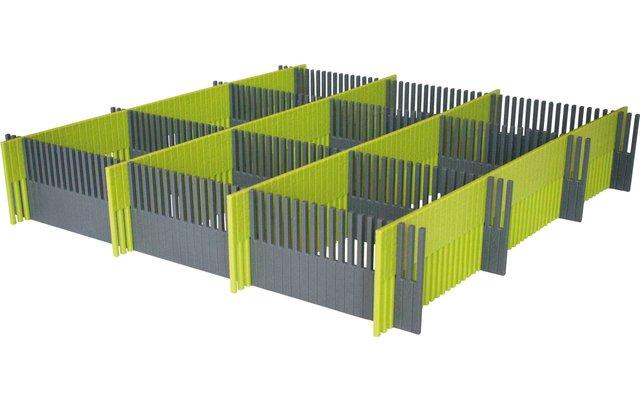 Purvario Pure Light Edition Stauleisten Set für Schubladen 8 Stück anthrazit / lime