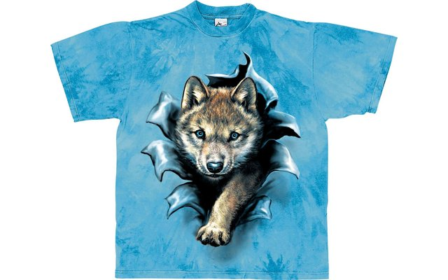Harlequin Wolf Pup Rip Kinder T-Shirt