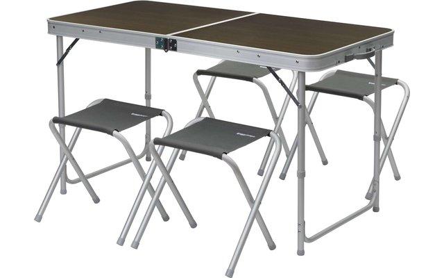 Berger Solo  + 4 Hocker Picknicktisch  60 x 120 cm
