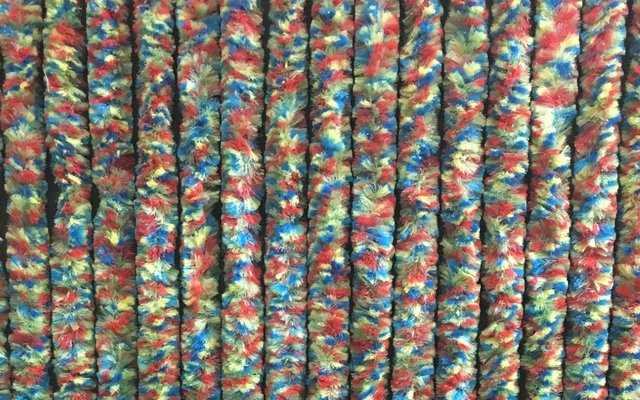 Chenille Flauschvorhang bunt 185 x 56 cm