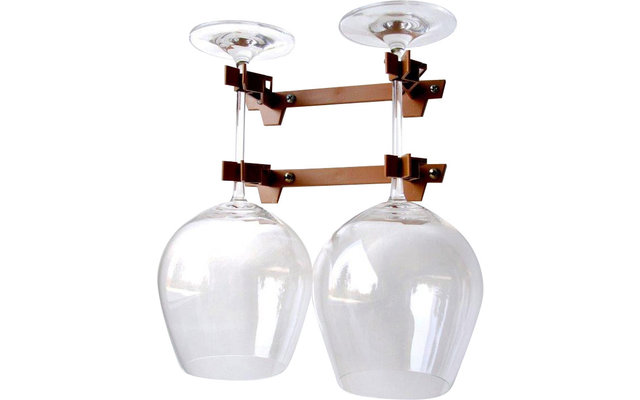 Doppelhalter Rotweingläser für 2 Gläser