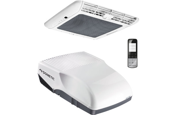 Dometic FreshJet 2200 Dachklimaanlage mit Luftverteilerbox  und Fernbedienung für Reisemobile bis 7 Meter Weiß
