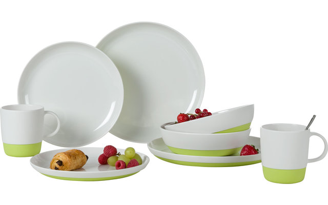 Berger Stone Melamin Geschirr-Set 8-tlg. Lime