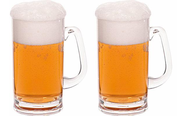 Berger Kunststoff Bierkrug 2er Set