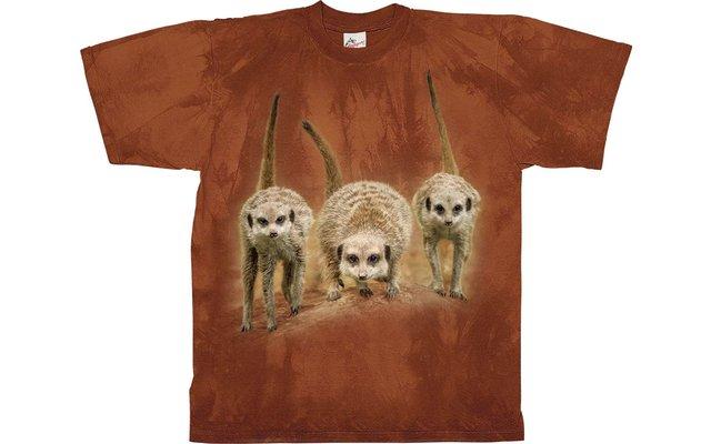Harlequin Meerkat Trio Kinder Motiv T-Shirt