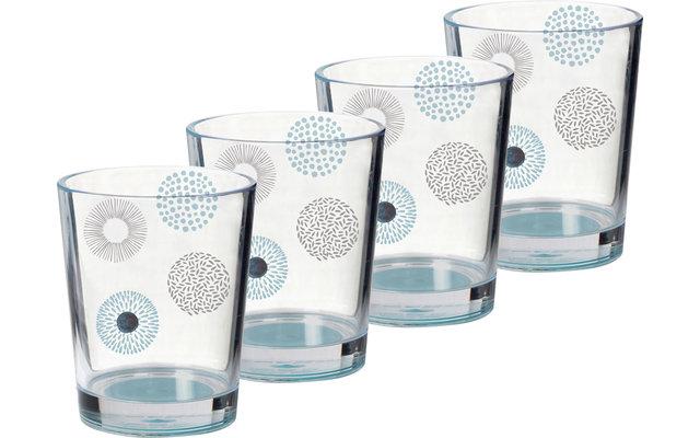 Brunner Acryl Trinkglas Deep Sea 300 ml 4er Set