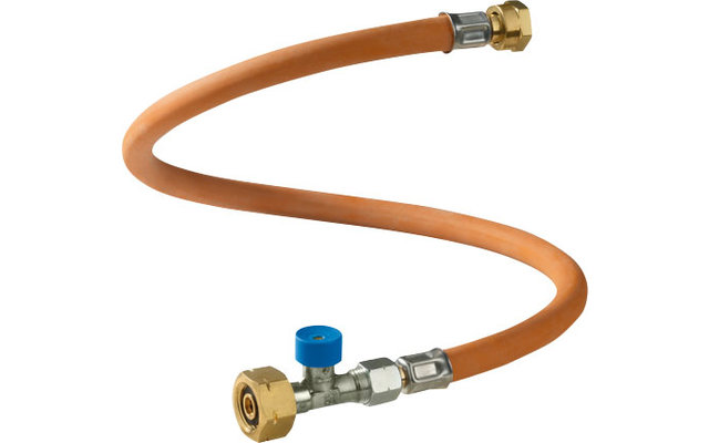 GOK Hochdruckgasschlauch 45 cm / G. 8 mit Schlauchbruchsicherung  für EU Shell; B; CZ; DK; E; GB; HR; IRL; NL; PL; SK; SLO