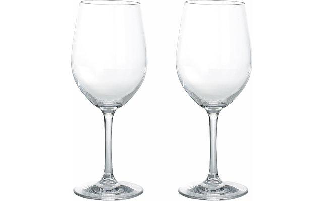 Gimex Kunststoff Weißweingläser Blow 250 ml 2er Set