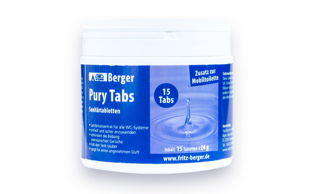 Berger Pury Blue Sanitärtabletten 15 Tabs