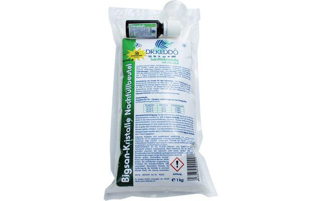 Dr. Keddo Bigsan-Kristalle Sanitärprodukt 1.000 g Nachfüllbeutel