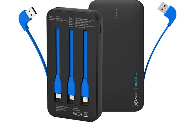 XLayer Powerbank Plus All-in-One PD18W 10.000 mAh