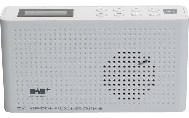 Opticum DAB+ Radio TON4 mit Internet und Bluetooth Weiß