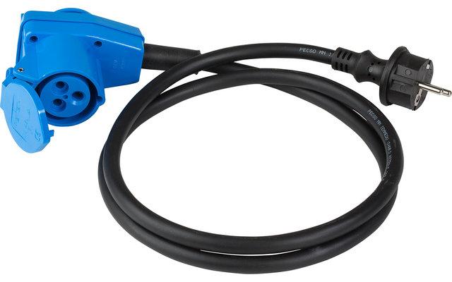 CEE-Adapterleitung Schutzkontaktstecker 90° CEE-Kupplung 3-polig