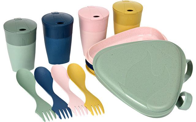 LightMyFire Eat'n Drink Kit aus Bioplastik für 4 Personen