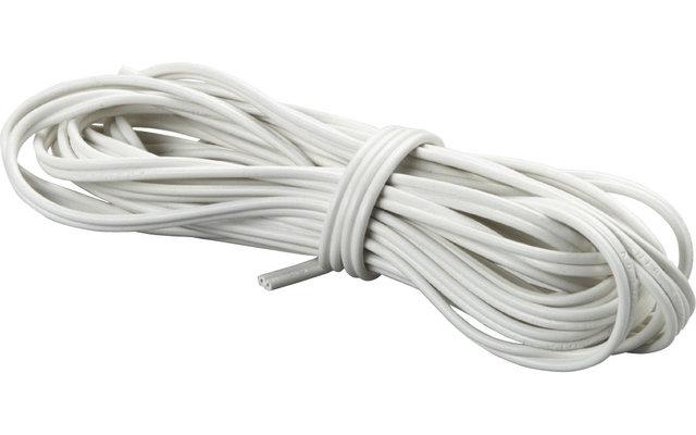 Flexible PVC-Zwillingsleitung Weiß 0,75 mm² Länge 5 m