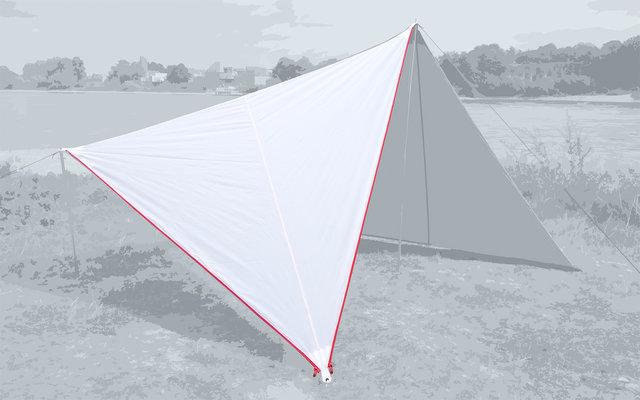 Bent Canvas Plain Single Tarp white / zipper red