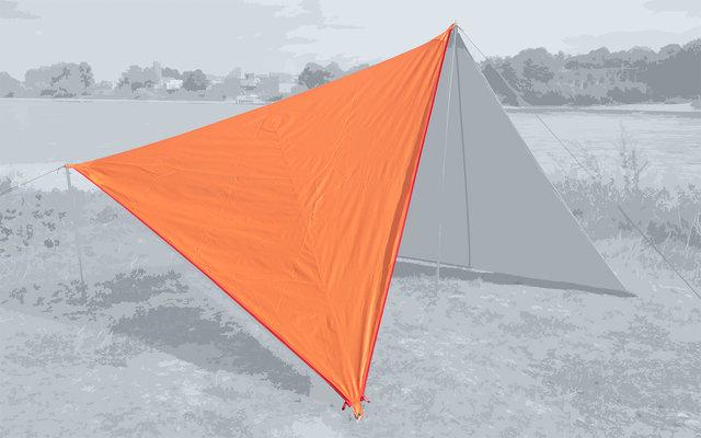 Bent Canvas Plain Single Tarp autumn glory / zipper red