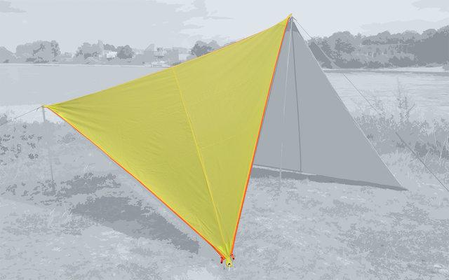 Bent Canvas Plain Single Tarp lime punch / zipper orange