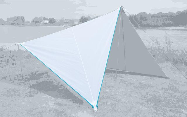 Bent Canvas Plain Single Tarp white / zipper light blue