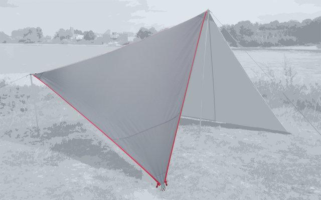 Bent Canvas Plain Single Tarp high rise / zipper red