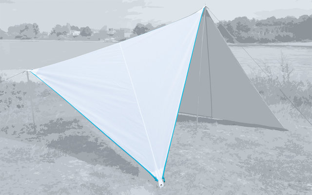 Bent Canvas Plain Set Tarp white / zipper light blue