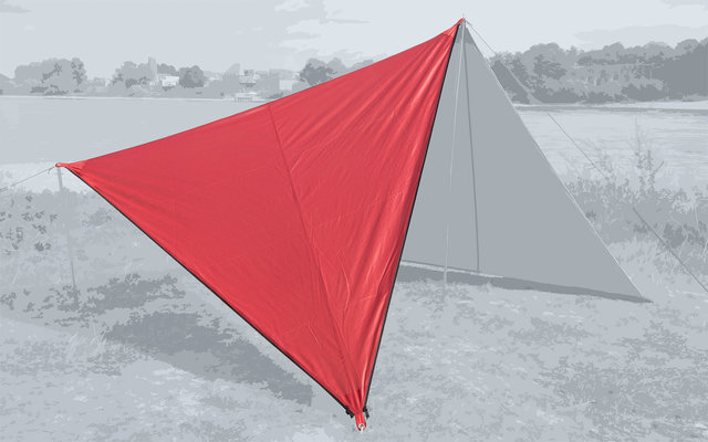 Bent Canvas Plain Set Tarp barbados cherry / zipper black