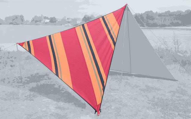 Bent Canvas Allover Set Tarp Oriental stripe cherry / zipper black