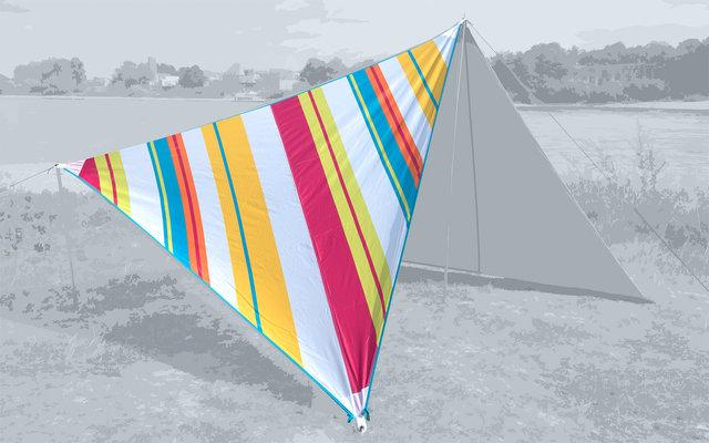 Bent Canvas Allover Set Tarp Caribbean stripe hawaii / zipper light blue