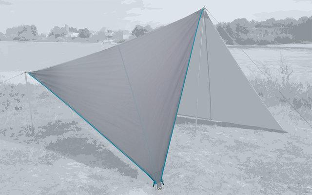 Bent Canvas Plain Single Tarp high rise / zipper light blue