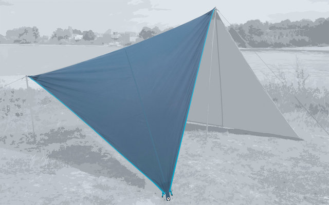 Bent Canvas Plain Single Tarp sepia blue / zipper light blue