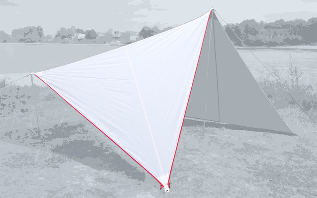 Bent Canvas Plain Set Tarp white / zipper red