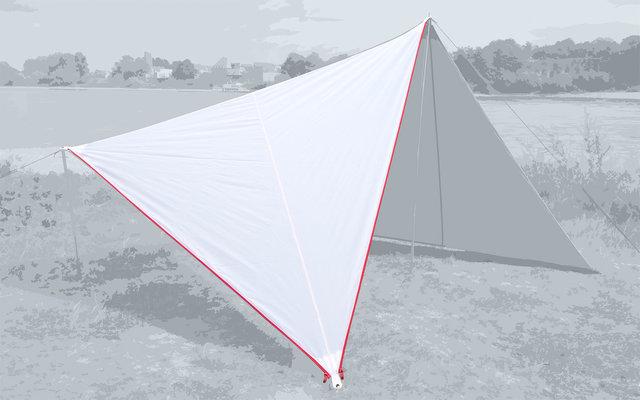 Bent Canvas Plain Set Tarp white / zipper red