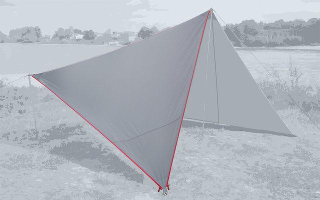 Bent Canvas Plain Set Tarp high rise / zipper red